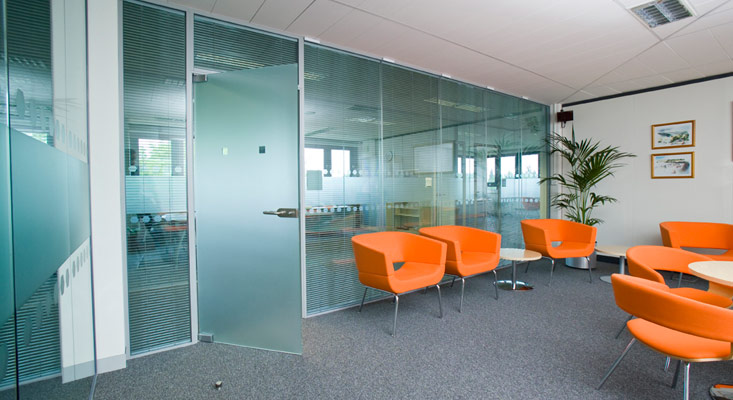 glass partitioning glazed partitions cardiff bristol newport