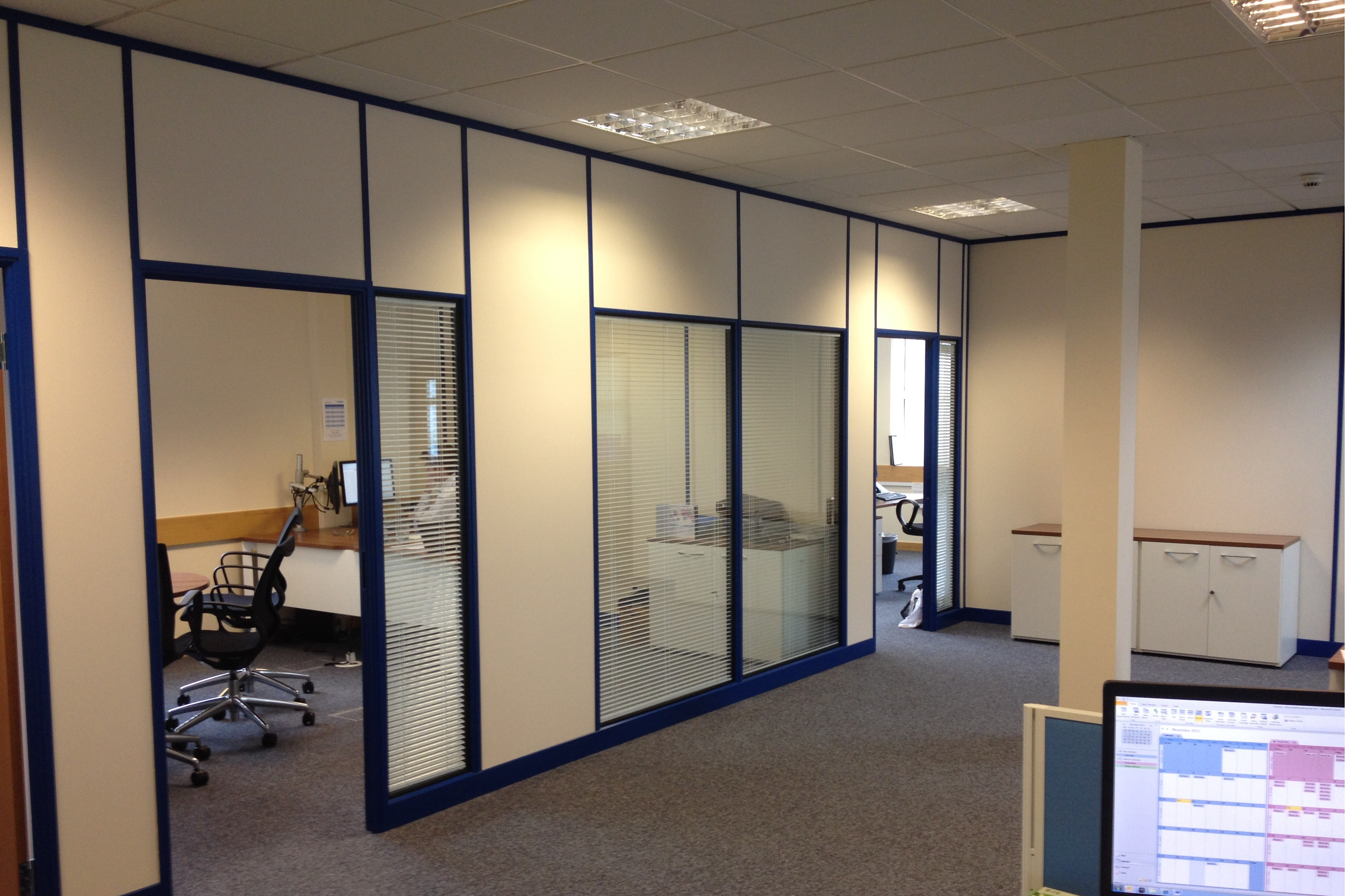 Office partitioning for cardiff business for Aluminium composite panel interior decoration