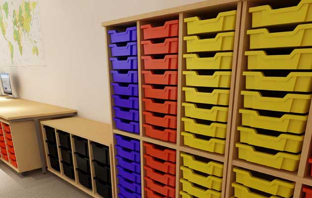 tray units for schools and colleges