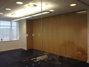 RBS operable wall creating a professional workspace